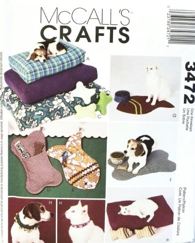 McCalls 3472 - Pet Accessories - Patterns for Cats and Dogs