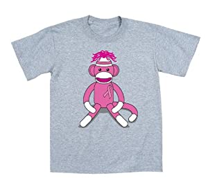 Breast Cancer Awareness Pink Sock Monkey Funny Toddler T Shirt