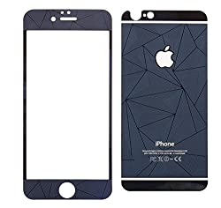 Relax And Shop 3D Diamond Mirror Front + Back Tempered Glass Screen Protector For Iphone 5S - Royal Blue