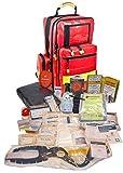 Erste Hilfe Notfallrucksack aus Plane für Baumarbeiten & Industrie mit Powerflarewarnleuchte