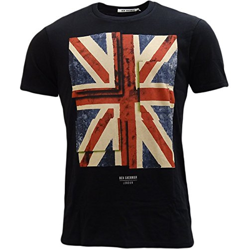 Ben Sherman -  T-shirt - T-shirt  - Basic - Maniche corte  - Uomo nero Large