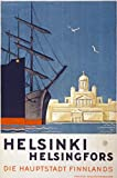 TX21 Vintage 1930 Helsinki Helsingfors Finland Finnish Travel Poster Re-Print - A4 (297 x 210mm) 11.7