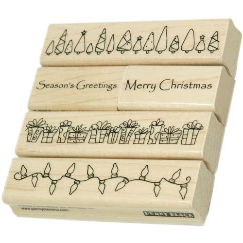 Penny Black Rubber Stamp Set 4X4 Christmas Time