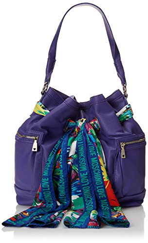 Love Moschino Scarf Bucket Bag, Purple, One Size