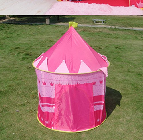 Home ... & DIY Creations® Girl Pink Play Tent Crown Princess Castle - Indoor ...