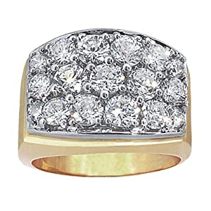 14k Yellow gold Cluster Ring. Finger Size 9.5