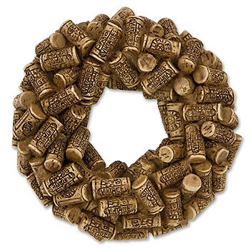 2.5 Inch Natural Cork Colored Sculpted Resin Got Cork?TM Wreath Magnet