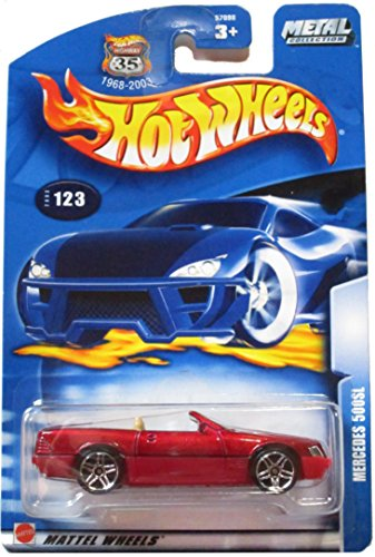 Hot Wheels Metal Collection Mercedes 500SL 2003 Collector # 123