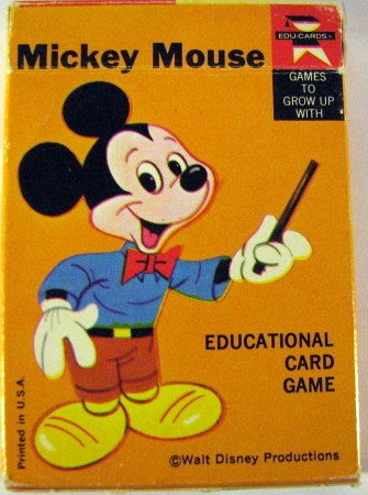 Mickey Mouse Educational Card Game - 1