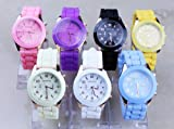 Hot sale New Fashion Designer Ladies sports brand silicone watch jelly watch quartz watch for women men