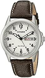 Citizen Men's AW0040-19X Analog Display Japanese Quartz Brown Watch