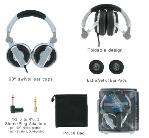 Av-Jefe Dj Class Professional Stereo Headphone_High-Powered, Heavy Duty, Foldable And Comfortable