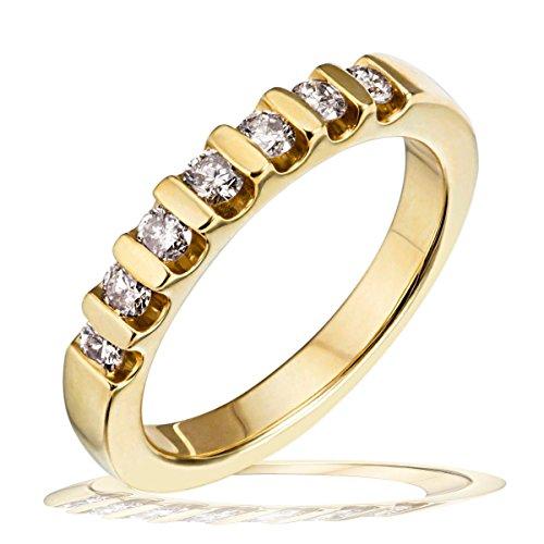 GOLDMUD - Goldmaid - Me R538GG56, Anello con diamante donna, bianco, 16