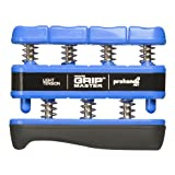 Prohands Gripmaster Hand and Finger Exerciser Blue Light Resistance Strength Firm Strong Grip Weight 5lb Lightweight Portable Personal Exercise Tool Use Anytime Anywhere Forearm Musicians, Sport Enthusiasts, Professional Athletes