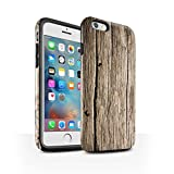 STUFF4 Gloss Tough Shock Proof Phone Case for Apple iPhone 6+/Plus 5.5 / Driftwood Design / Wood Grain Effect/Pattern Collection