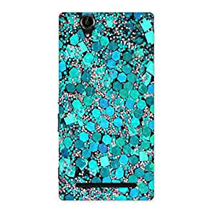 Stylish Paper Green Print Back Case Cover for Sony Xperia T2