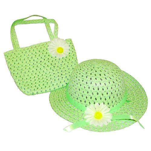 Tea Party Hat & Purse Set (More Colors...) Select Color: green by Cutie Collections
