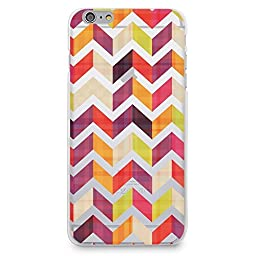 Hard Plastic Case for iPhone 6 / iPhone 6s, CasesByLorraine Chevron Herringbone Transparent Colorful Zigzag Matte Plastic Cover for iPhone 6 / iPhone 6s 4.7 inch (N36)