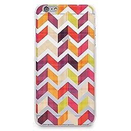 Hard Plastic Case for iPhone 6 / iPhone 6s, CasesByLorraine Chevron Herringbone Transparent Colorful Zigzag Matte Plastic Cover for iPhone 6 / iPhone 6s 4.7 inch (N36)