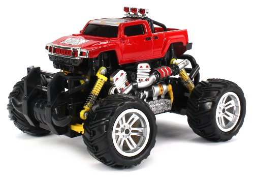 Hummer H3T Pickup Electric Rc Off-Road Monster Truck 1:18 Scale 4 Wheel Drive Rtr, Working Hinged Spring Suspension, Perform Various Drifts (Colors May Vary)