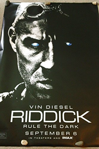 Riddick - 2013 - 4'X6' Double Sided - Ds - Original Theatrical Bus Shelter Movie Poster - Vin Diesel