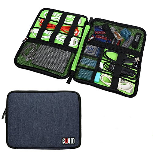 Bubm Universal Cable Organizer Electronics Accessories Case USB Drive Shuttle/ Healthcare & Grooming Kit (Dis Royal Blue-large)