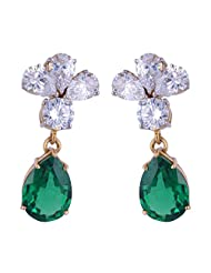 Amazing Jewel Golden Color Silver Dangle & Drop Earrings For Women