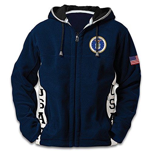 us-air-force-hoodie-mens-blue-hooded-fleece-jacket-xlarge-by-the-bradford-exchange