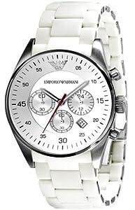 Emporio Armani - Reloj de pulsera hombre, plástico, color blanco
