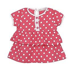 EIMOIE Baby Girls short sleeves Dress (Dk.Pink)