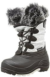 Kamik Powdery Snow Boot (Toddler/Little Kid/Big Kid), White, 2 M US Little Kid