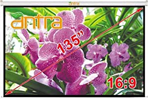 """Amazon.com: Antra Electric Motorized 135"""" 16:9 Projector Projection Screen Low Noise Tubular"""