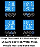 GoWISE-USA-Digital-Body-Fat-Scale-FDA-Approved-Measures-Weight-Body-Fat-Water-Bone-Mass-400-lbs-Capacity-Tempered-Glass
