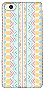 Snoogg Light Blue Aztec Solid Snap On - Back Cover All Around Protection For ...
