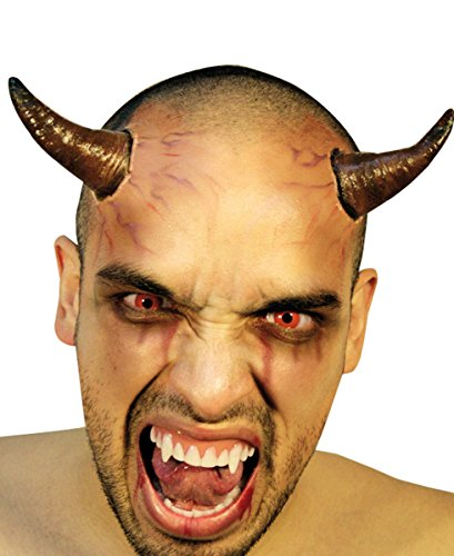 """Devil Horns - 2 Stick-On in lattice Horror """"per Halloween"""