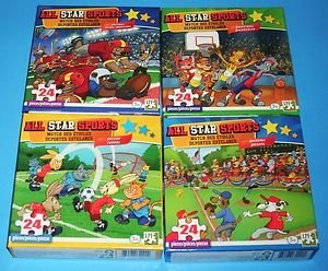All Star Sports Assorted 24 Pieces Puzzle