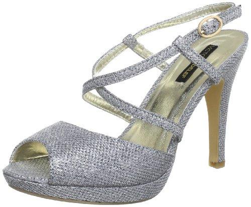 Victoria Delef SANDALS Ankle Womens Silver Silber (PLATA) Size: 4 (37 EU)