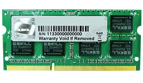 G.SKILL 4GB 204-Pin DDR3 SO-DIMM 1333 (PC3 10666) Laptop Memory Model F3-1333C9S-4GSA