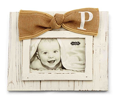 Mud Pie Planked Monogram Bow Frame, P
