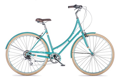 Why Choose PUBLIC Bikes Women's C7 Dutch Style Step-Thru 7-Speed City Bike, 16/Small, Turquoise (20...
