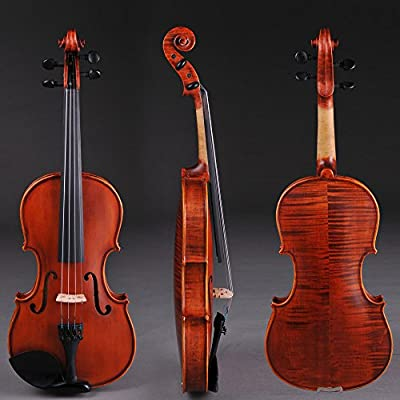 AW Full Size 4/4 Handmade Stradivari 1721 Copy German Style Violin Fiddle Case Bow Music Hobby