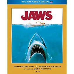 Jaws (Blu-ray + DVD + Digital with UltraViolet)