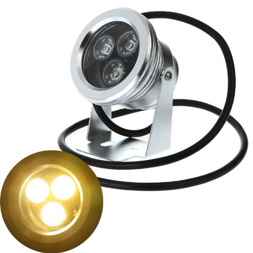 9W 12V Warm White Led Underwater Spotlight Fountain Pond Lamp 12Volt Spot Light Landscape Light
