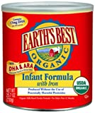 Earth&#39;s Best Organic Infant Formula with Iron, DHA &amp; ARA, 25.75 Ounce Canister