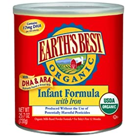 Earth's Best Organic Infant Formula with Iron, 25.75-Ounce Canister