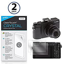 Panasonic Lumix GX85 Screen Protector, BoxWave® [ClearTouch Crystal (2-Pack)] HD Film Skin - Shields From Scratches for Panasonic Lumix GX85, GX80