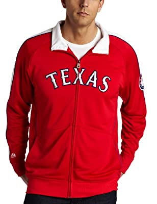 MLB Texas Rangers Profector Mock Neck Full Zip Raglan Jacket