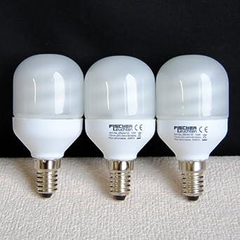 Fischer Leuchten 3-Set Energiesparlampe 10W E14 292441D
