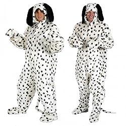 Adult Ladies Mens Fur Dalmatian Dog Animal Bestival Onesie Fancy Dress Costume Outfit