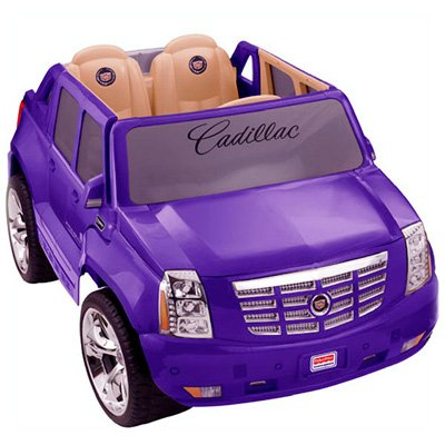 Fisher-Price Power Wheels Barbie Cadillac Escalade Battery Operated Ride On hot new exclusive color PURPLE